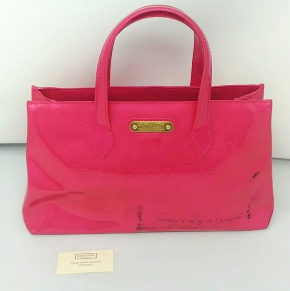 344a7eb34e Rare Auth Louis Vuitton Wilshire PM Rose Pop Pink